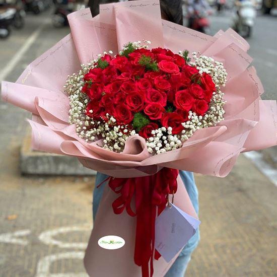 Hoa hồng bó sắc đỏ- HB50