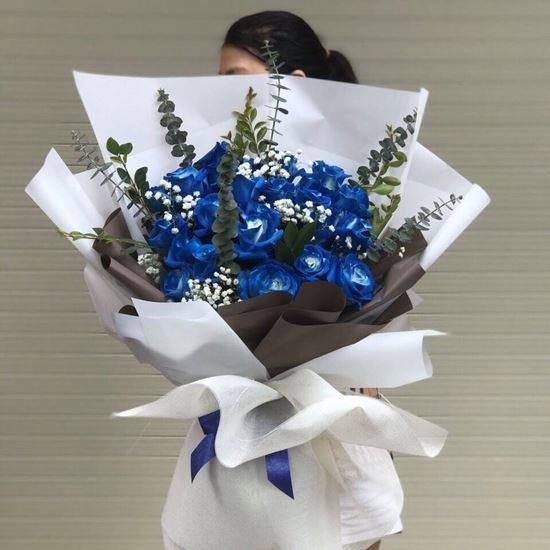 Bó Hoa hồng  xanh - HB09