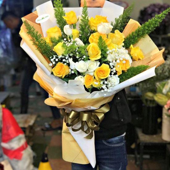 Bó Hoa hồng  vàng  - HB12