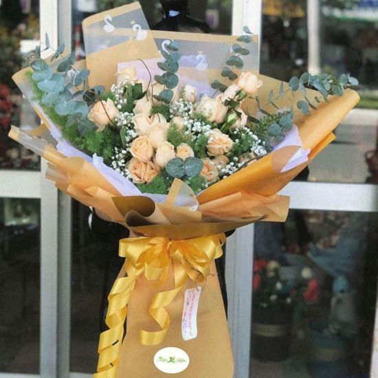 Bó hoa hồng mỡ gà - HB54