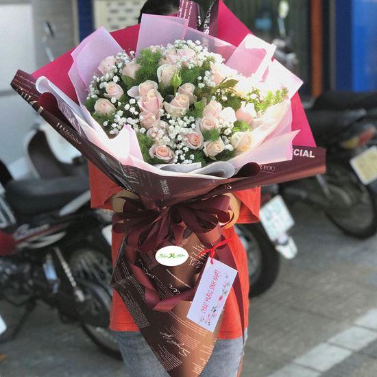 Bó hoa hồng pastel- HB61