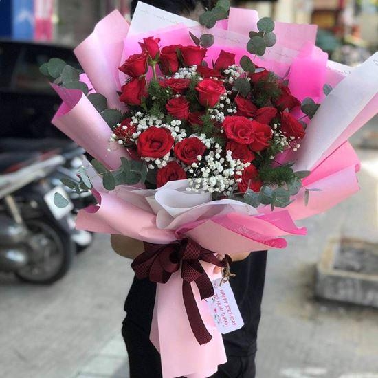 Bó hoa hồng đỏ - HB67