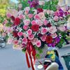 Bình hoa hồng tone tím - BI15