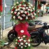 Kệ hoa hồng đỏ,kem - KH10