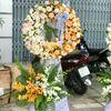 Vòng hoa viếng hoan hồng,lan vàng- KV04