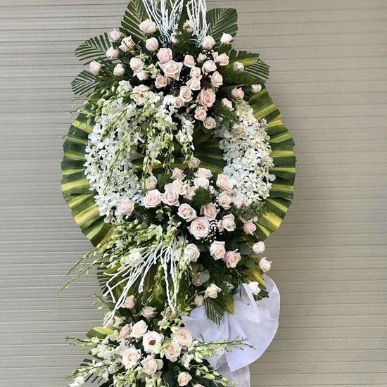 Vòng hoa viếng hoa hồng- KV11