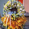 Vòng hoa viếng lan vàng- KV26
