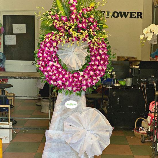 Vòng hoa viếng lan tím-KV31
