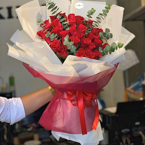 Bó hoa hồng đỏ-HB82