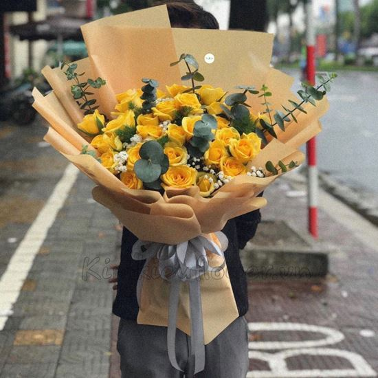 Bó hoa hồng vàng-HB114