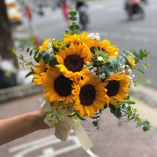 Bó hoa cưới hướng dương-HC15
