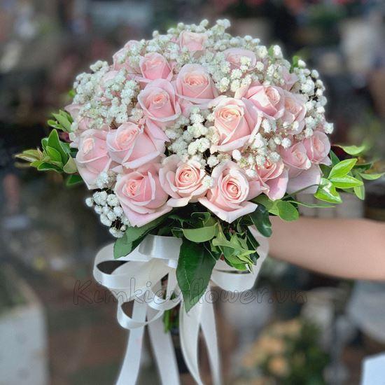 Bó hoa hồng kem-HC20