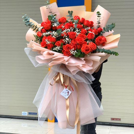 Bó hoa hồng cam ớt - HB133