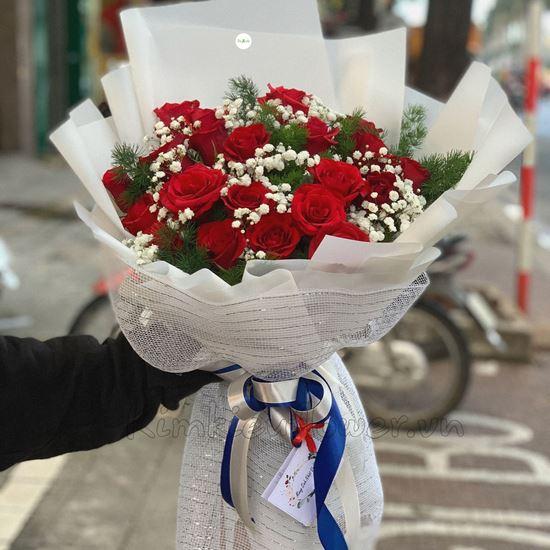 Bó hoa hồng đỏ - HB136