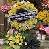 Vòng hoa viếng cẩm tú cầu, hồng vàng - KV57