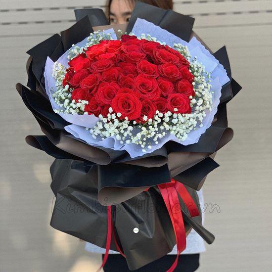 Bó hoa hồng đỏ - HB155