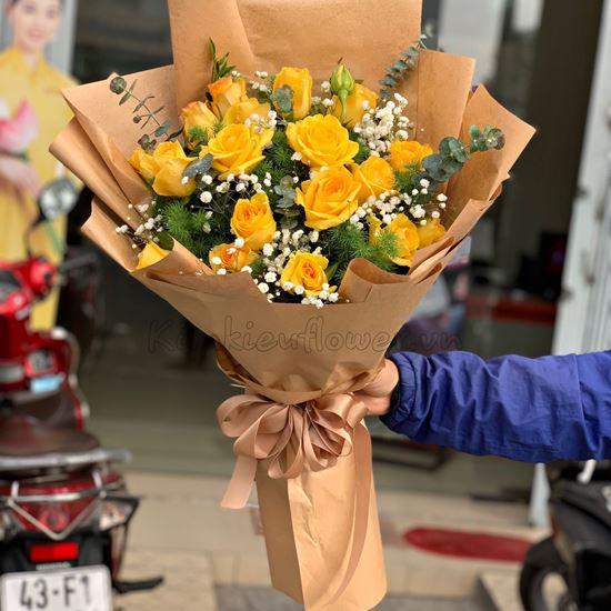 Bó hoa hồng vàng - HB177