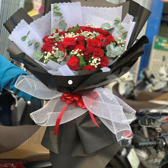 Bó hoa hồng đỏ - HB181
