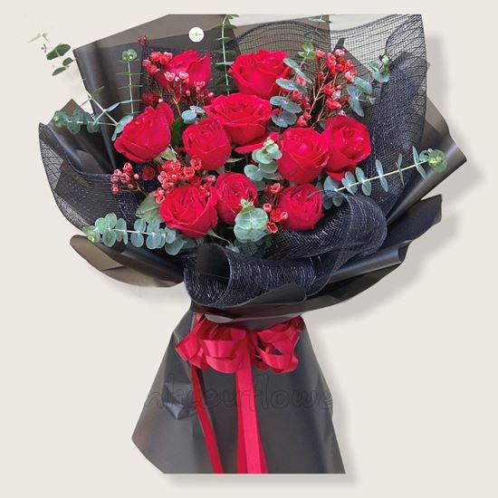 Bó hoa hồng ohara đỏ-HB125