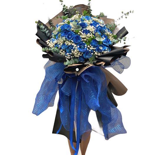 Bó hoa hồng xanh - HB166