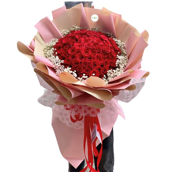 Bó hoa hồng đỏ 99 bông hồng-HB102
