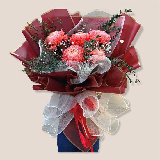 Bó hoa cúc mẫu đơn - HB176