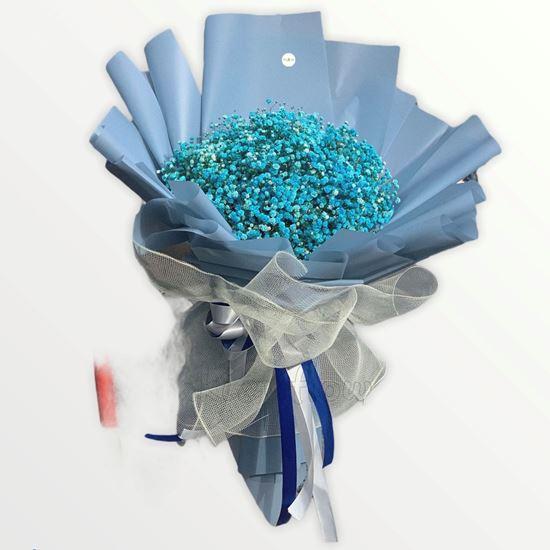 Bó hoa baby xanh - HB144