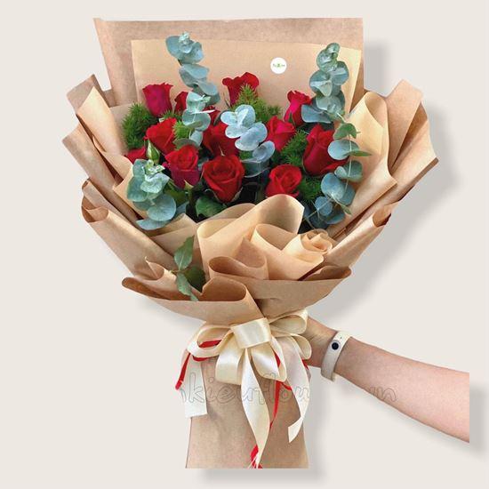 Bó hoa hồng đỏ-HB120