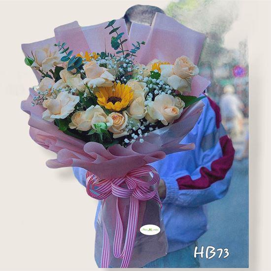 Bó Hoa hồng, hướng dương - HB73