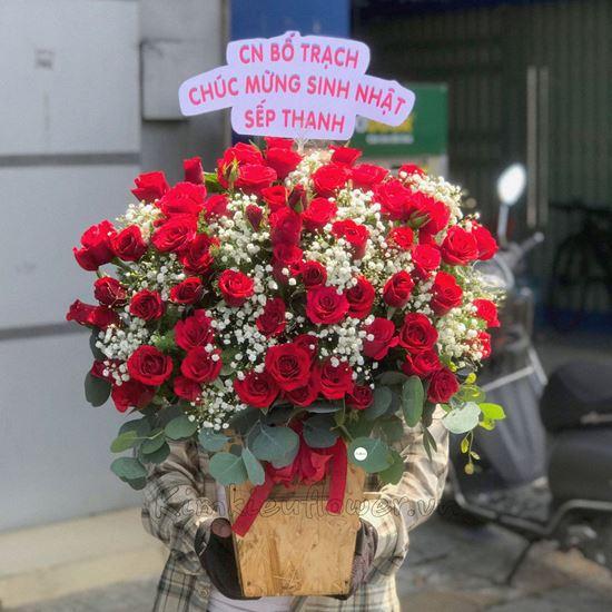 Lẵng hoa hồng đỏ - HG224