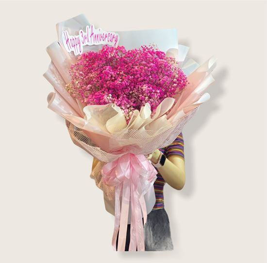 Bó hoa baby hồng - HQ80