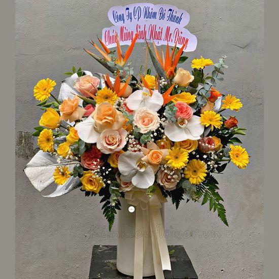 Bình hoa thiên điểu, hoa hồng - BI128